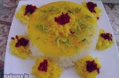 گلچین زیباترین عکس ها از تزیین برنج مجلسی با زرشک و زعفران خرداد 95