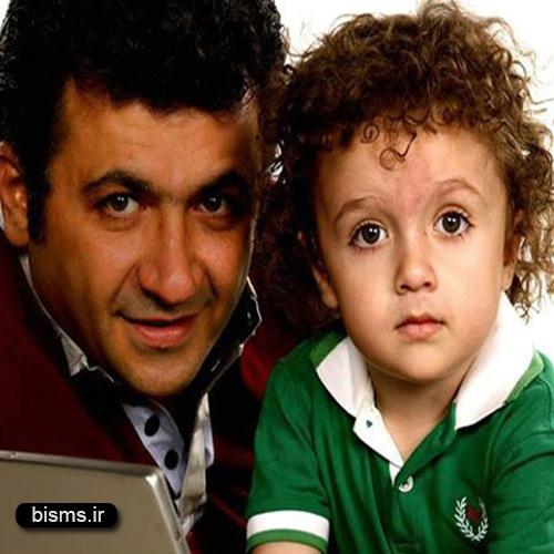 شباهت عجیب شهرام عبدلی و پسرش