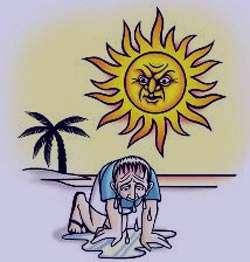 گرما,گرمازدگی,درمان گرمازدگی,علت گرمازدگی