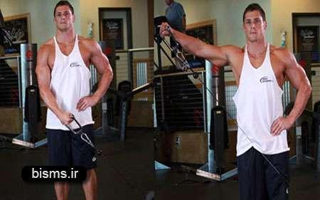 تقویت عضلات شانه,تمرین با دمبل,تمرینات بدنسازی