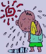 گرمای تابستان, گرما زدگی, علت گرفتگی عضلات