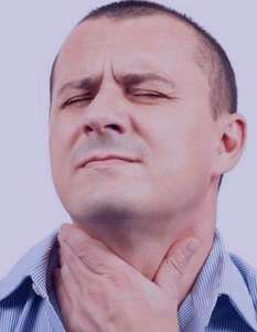 گرفتگي صدا, بيماري لارنژيت, سرفههاي شديد