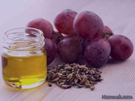 روغن هسته انگور , خواص روغن هسته انگور , روغن هسته انگور برای مو , روغن هسته انگور برای پوست