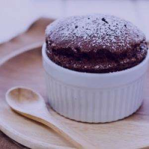 سوفله شکلات تلخ,سوفله شکلات مامی سایت,سوفله شکلات گرم