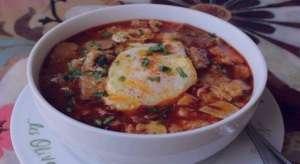 سوپ سیر اسپانیایی , طرز تهیه سوپ سیر اسپانیایی , روش پخت سوپ سیر اسپانیایی