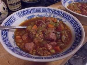 سوپ گوشت و عدس , طرز تهیه سوپ گوشت و عدس , روش پخت سوپ گوشت و عدس