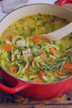 سوپ مرغ و کدو سبز , طرز تهیه سوپ مرغ و کدو سبز , روش پخت سوپ مرغ و کدو سبز