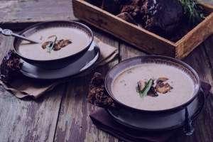 سوپ قارچ و خامه , طرز تهیه سوپ قارچ و خامه , روش پخت سوپ قارچ و خامه