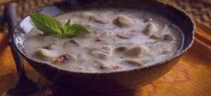 سوپ قارچ و جو پرک , طرز تهیه سوپ قارچ و جو پرک , روش پخت سوپ قارچ و جو پرک