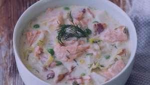 طرز تهیه سوپ سالمون , سوپ سالمون , سوپ ماهس سالمون
