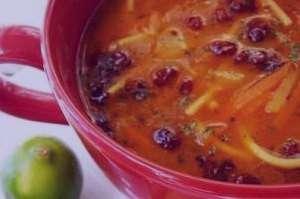 طرز تهیه سوپ زرشک , سوپ زرشک , روش پخت سوپ زرشک