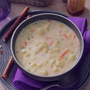 سوپ گل کلم , طرز تهیه سوپ گل کلم , روش پخت سوپ گل کلم