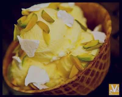 بستنی سنتی , طرز تهیه بستنی سنتی در منزل , بستنی سنتی زعفرانی ,بستنی سنتی بدون ثعلب