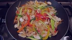 طرز تهیه خوراک سبزیجات چینی , خوراک سبزیجات چینی , خوراک سبزیجات