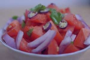 سالاد گوجه فرنگی , طرز تهیه سالاد گوجه فرنگی , دستور تهیه سالاد گوجه فرنگی