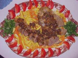 طرز تهیه خوراک زبان گوساله , خوراک زبان گوساله , خوراک زبان