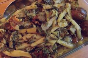 طرز تهیه خوراک کنگر , خوراک کنگر , روش پخت خوراک کنگر