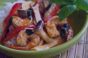 طرز تهیه خوراک میگو و قارچ هندی , خوراک میگو و قارچ هندی , خوراک میگو و قارچ