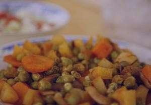 خوراک نخود فرنگی , طرز تهیه خوراک نخود فرنگی , دستور پخت خوراک نخود فرنگی