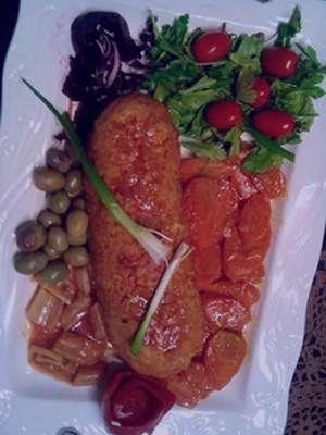 طرز تهیه خوراک گوشت قالبی , خوراک گوشت قالبی , خوراک گوشت چرخ کرده