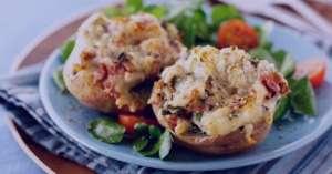 طرز تهیه خوراک سیب زمینی و تن ماهی , خوراک سیب زمینی و تن ماهی , سیب زمینی و تن ماهی