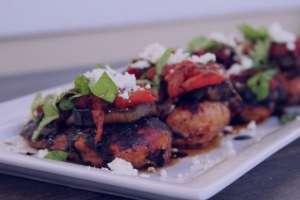 طرز تهیه خوراک بادمجان و گوشت کبابی , خوراک بادمجان و گوشت کبابی , روش پخت بادمجان و گوشت کبابی