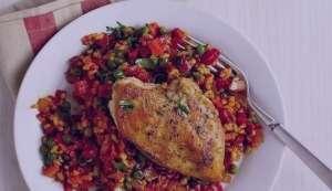 طرز تهیه خوراک مرغ اسپانیایی , خوراک مرغ اسپانیایی , مرغ اسپانیایی
