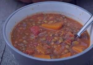 سوپ عدس و کدو حلوایی , طرز تهیه سوپ عدس و کدو حلوایی , دستور پخت سوپ عدس و کدو حلوایی