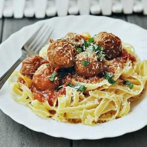 خوراک کوفته ریزه با پاستا , طرز تهیه خوراک کوفته ریزه با پاستا , دستور پخت خوراک کوفته ریزه با پاستا