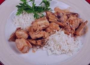 طرز تهیه خوراک مرغ و برنج رژیمی, خوراک مرغ و برنج رژیمی , خوراک مرغ و برنج