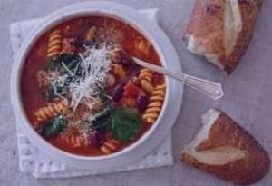 سوپ اسفناج و پاستا , طرز تهیه سوپ اسفناج و پاستا , دستور پخت سوپ اسفناج و پاستا