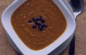 سوپ کدو حلوایی و لوبیا سیاه , طرز تهیه سوپ کدو حلوایی و لوبیا سیاه , دستور پخت سوپ کدو حلوایی و لوبیا سیاه