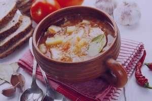 سوپ کلم تند , طرز تهیه سوپ کلم تند , دستور پخت سوپ کلم تند