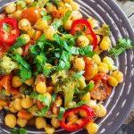 دستور پخت کامل و طرز تهیه خوراک سبزیجات تند رژیمی خوشمزه