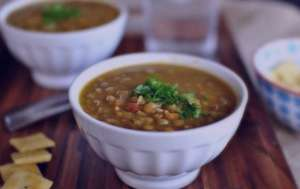 سوپ عدس و سیر , طرز تهیه سوپ عدس و سیر , روش پخت سوپ عدس و سیر