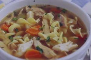 سوپ رشته فرنگی با مرغ , طرز تهیه سوپ رشته فرنگی با مرغ , دستور پخت سوپ رشته فرنگی با مرغ