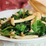 آموزش تخصصی و طرز تهیه خوراک اسفناج و قارچ چینی به روش مخصوص
