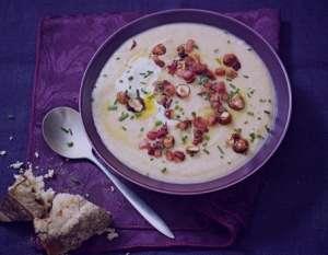 سوپ فندق و سیب زمینی , طرز تهیه سوپ فندق و سیب زمینی , دستور پخت سوپ فندق و سیب زمینی