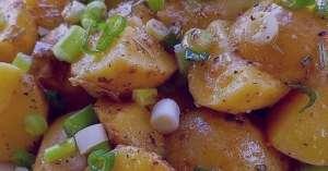 طرز تهیه سالاد سیب زمینی مراکشی , سالاد سیب زمینی مراکشی , دستور تهیه سالاد سیب زمینی مراکشی