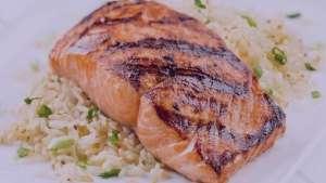 طرز تهیه کته با ماهی سالمون , کته با ماهی سالمون , روش پخت کته با ماهی سالمون