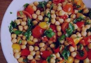 طرز تهیه سالاد نخود و گوجه فرنگی , سالاد نخود و گوجه فرنگی , دستور تهیه سالاد نخود و گوجه فرنگی