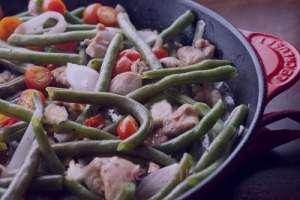 طرز تهیه سالاد گرم لوبیا سبز , سالاد گرم لوبیا سبز , دستور تهیه سالاد گرم لوبیا سبز