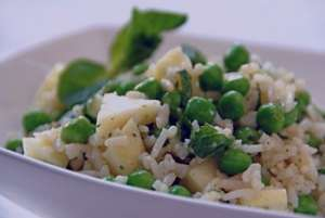 طرز تهیه سالاد برنج و نخود فرنگی , سالاد برنج و نخود فرنگی , سالاد نخود فرنگی و برنج