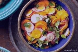 طرز تهیه سالاد تربچه و هویج , سالاد تربچه و هویج , دستور تهیه سالاد تربچه و هویج