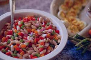 طرز تهیه سالاد لوبیا چیتی , سالاد لوبیا چیتی , دستور تهیه سالاد لوبیا چیتی