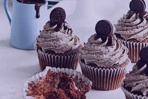طرز تهیه کاپ کیک شکلاتی , کاپ کیک شکلاتی , کاپ کیک شکلاتی فوری