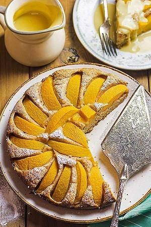 طرز تهیه کیک هلو , کیک هلو , روش پخت کیک هلو