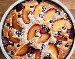 طرز تهیه کیک آلو و هلو , کیک آلو و هلو , دستور پخت کیک آلو و هلو