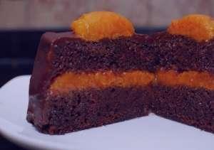 طرز تهیه کیک شکلات و زردآلو , کیک شکلات و زردآلو , دستور تهیه کیک شکلات و زردآلو