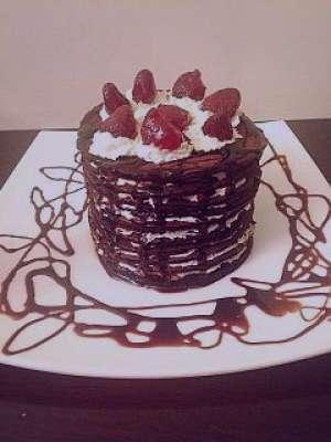 طرز تهیه کیک شکلاتی پنکیک , کیک شکلاتی پنکیک , دستور پخت کیک شکلاتی پنکیک